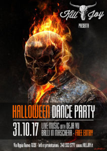 MARTEDI 31/10 - HALLOWEEN DANCE PARTY con Deja Vu @ KILL JOY