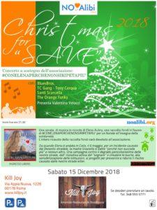 SABATO 15/12 - CHRISTMAS FOR SAVE @ KILL JOY