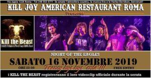 SABATO 16/11 - KILL THE BEAST - Eagles Tribute @ KILL JOY