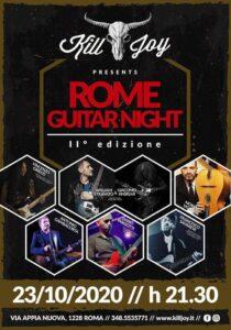 VENERDI 23/10 - ROME GUITAR NIGHT 2 @ KILL JOY
