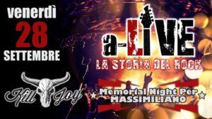 VENERDI 28/9 - A-LIVE LA STORIA DEL ROCK @ KILL JOY