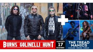 MARTEDI 17/12 - STEF BURNS - CLAUDIO GOLINELLI - WILL HUNT + THE TREAD MANICS @ KILL JOY